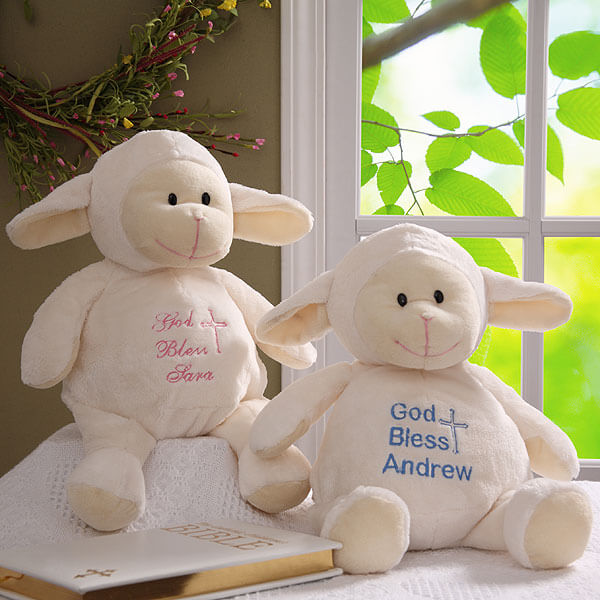Baptism Blessings Personalized Baby Lamb