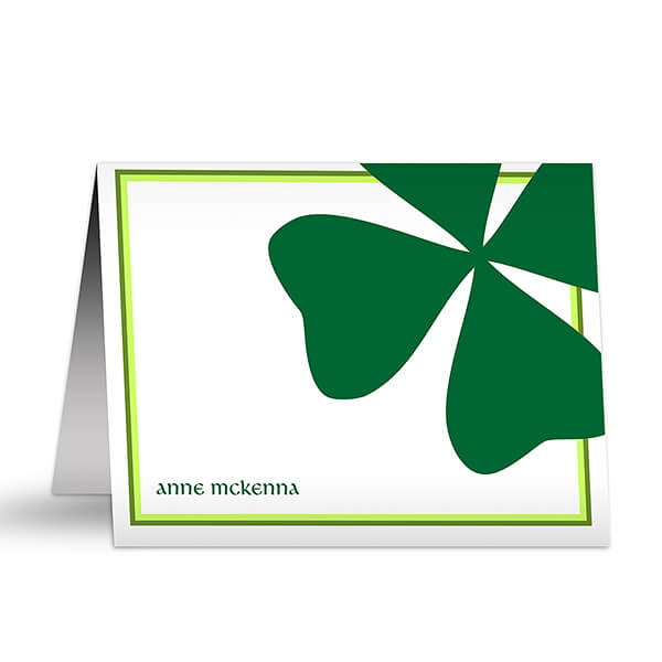 Shamrock Personalized Note Cards