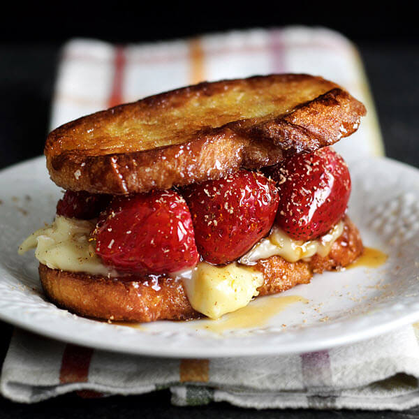 Caramel Strawberry & Brie Grilled Cheese