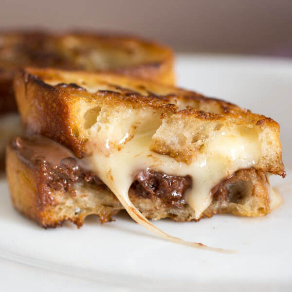 Brie & Nutella Grilled Cheese