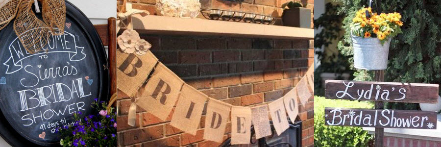 Rustic Bridal Shower DIY Banner Ideas