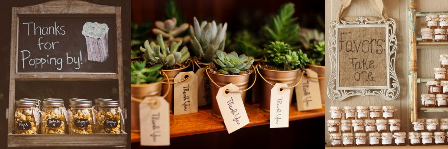 Rustic Bridal Shower Favors