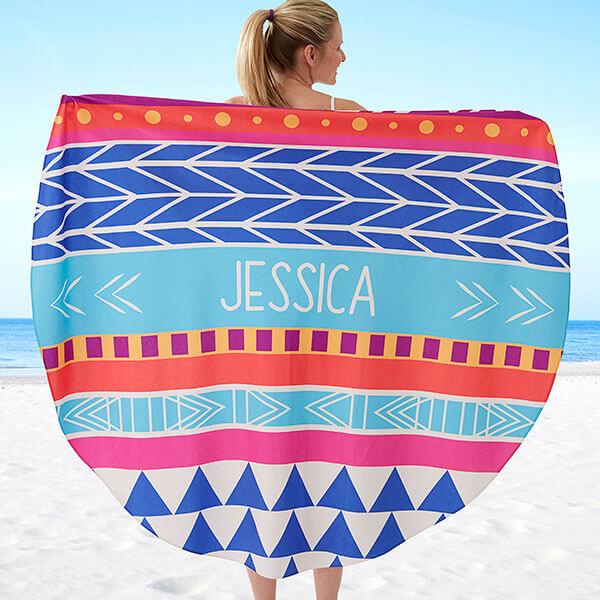 Boho Style Round Beach Towels