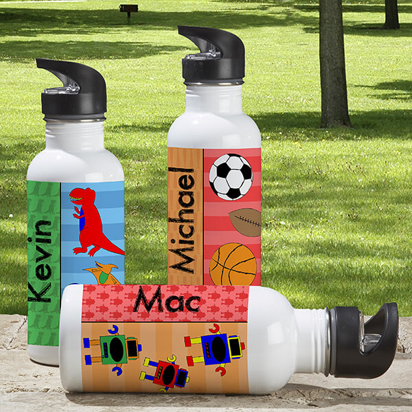Personalized Stainless Steel Water Bottles for Kids