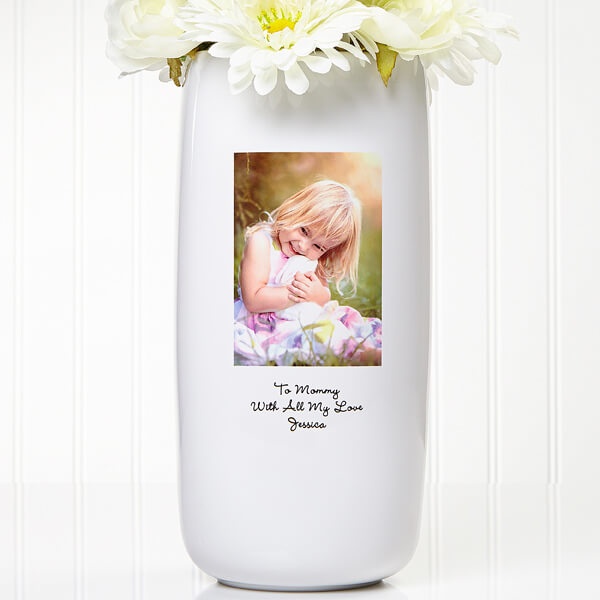 Photo Sentiments Personalized Vase