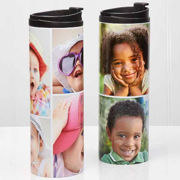 Photo Collage Personalized 16oz. Travel Tumbler