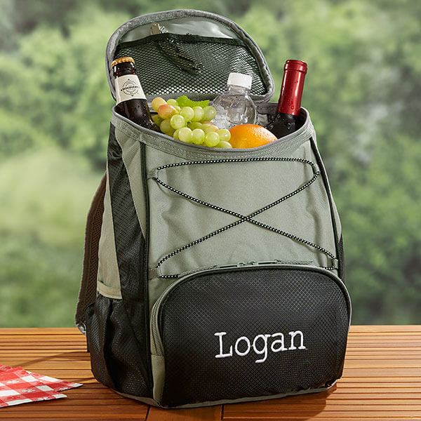 Embroidered Outdoor Cooler Backpack