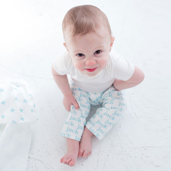 Classic Repeating Name Personalized Baby Leggings