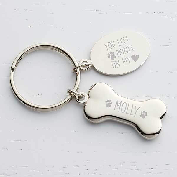 Dog Memorial Personalized Key Chain