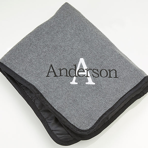 Embroidered Picnic Blanket for Him