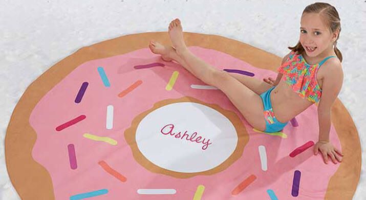 Personalized Round Beach Towels