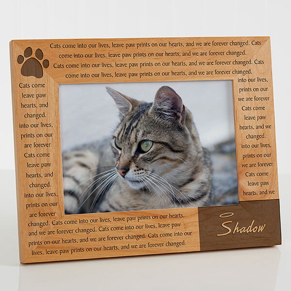 Paw Prints On Our Heart Personalized Photo Frame