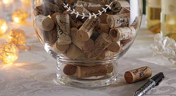 Wine Cork Wedding Guestbook Ideas