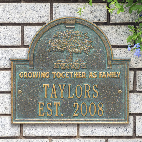 Family Tree Personalized Family Aluminum Plaque
