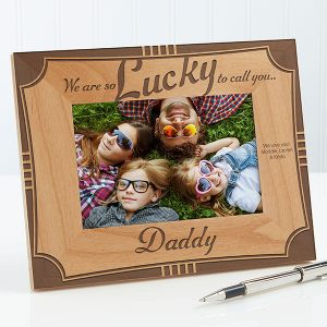 Lucky To Call You Dad Personalized Frame