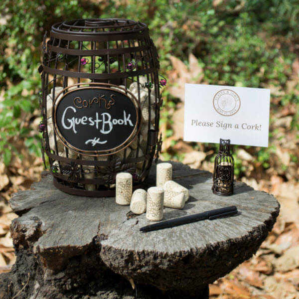 Wine Cork Wedding Guest Book Ideas