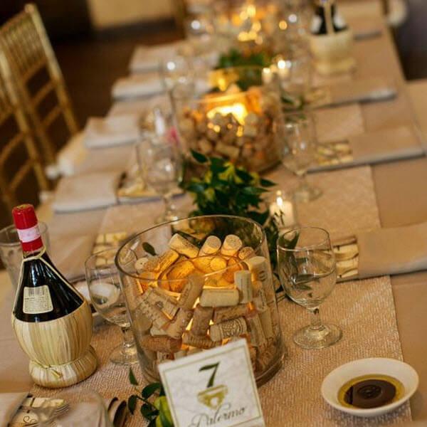 Wine Cork Wedding Ideas - Centerpieces