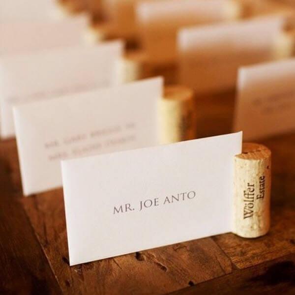 Wine Cork Wedding Ideas - DIY Place Cards