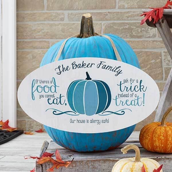 Teal Pumpkin Sign