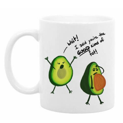 The Good Kind Of Fat Avocado Mug
