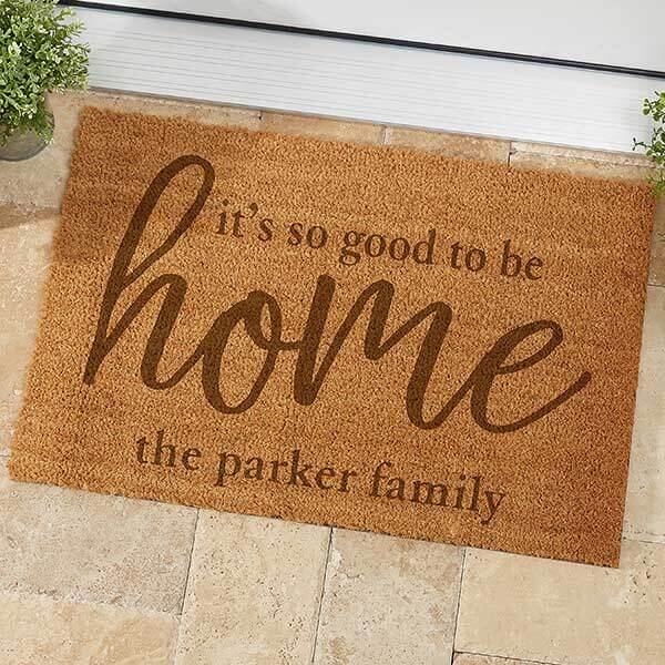Good To Be Home Personalized Doormat