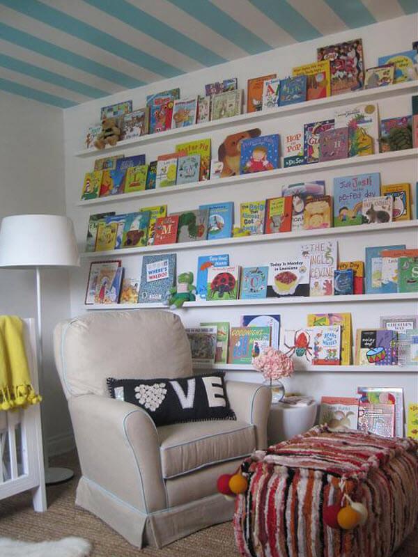Reading Nook Wall Book Display