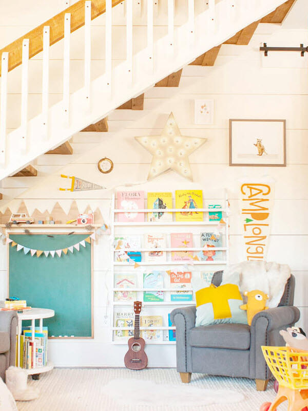 A Fun Reading Nook under The Stairs
