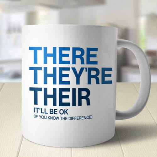 There They're Their Grammar Mug