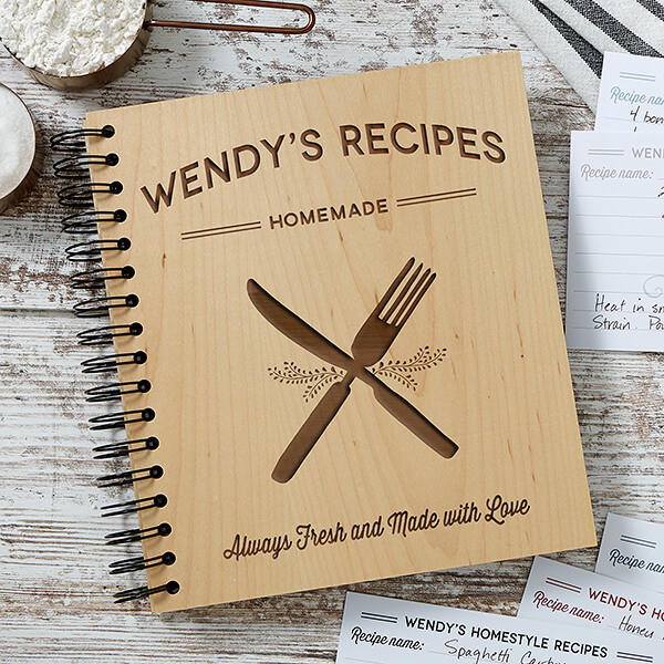 Real Estate Closing Gifts - Engraved Recipe Book