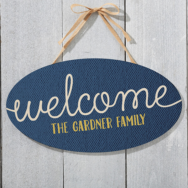 Real Estate Closing Gifts - Personalized Door Sign