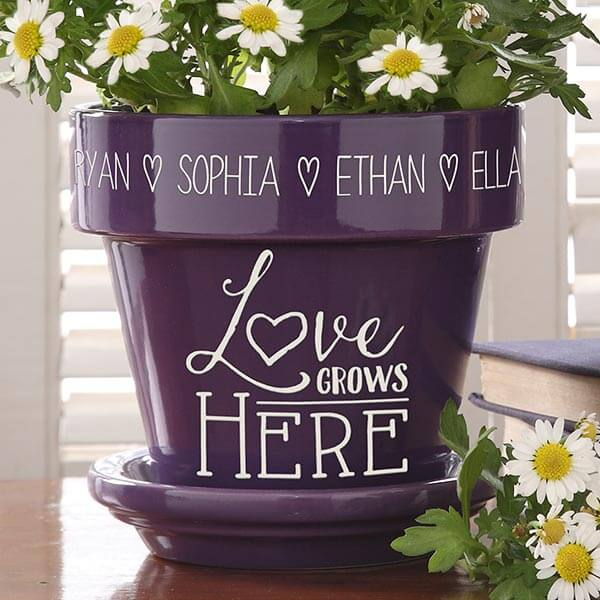 Real Estate Closing Gifts - Personalized Flower Pot
