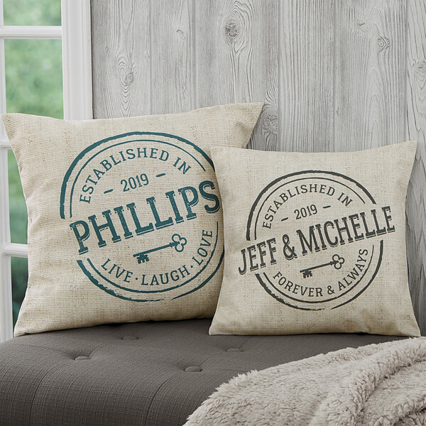 Real Estate Closing Gifts - Personalized Throw Pillows