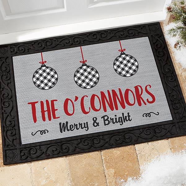 Buffalo Check Holiday Doormat