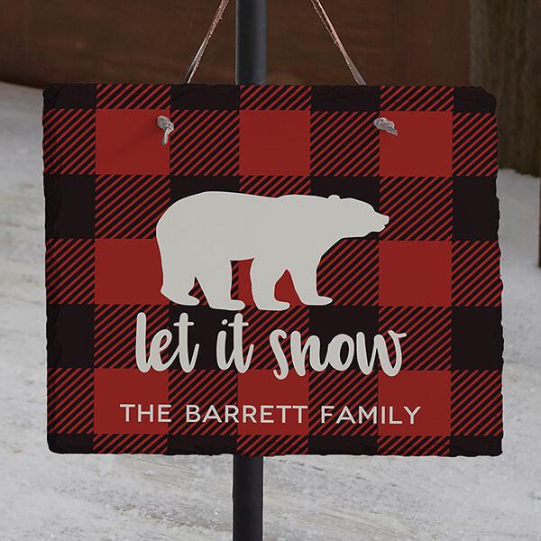 Buffalo Check Slate Plaque