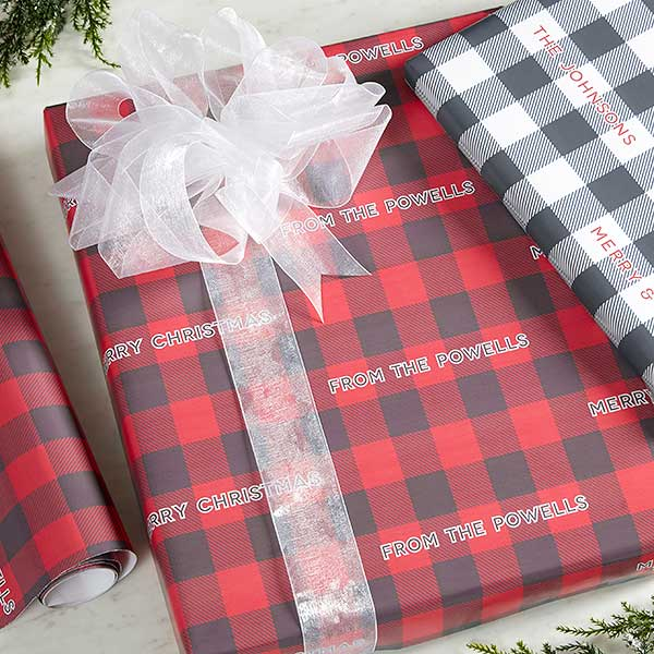 Buffalo Check Wrapping Paper