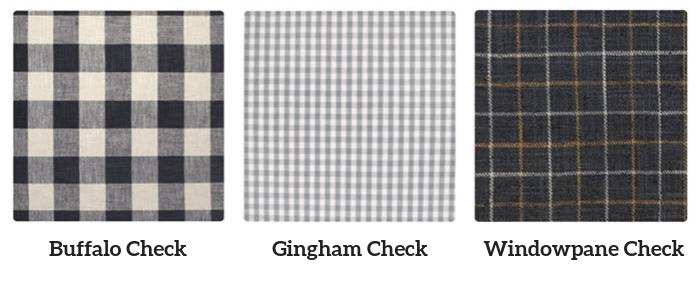 Check patterns - Buffalo vs Gingham vs Widowpane