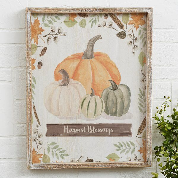 Harvest Blessings Autumn Wall Art