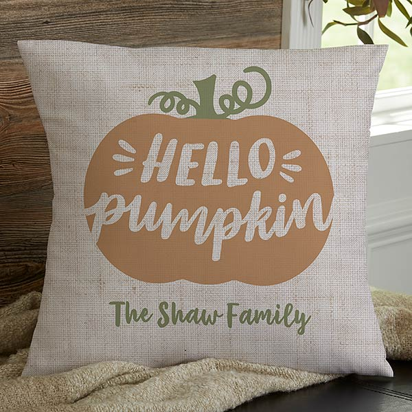 Hello Pumpkin Throw Pillows