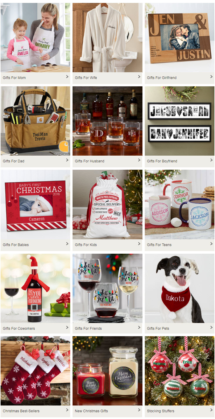 2018 Holiday Gift Guide Categories