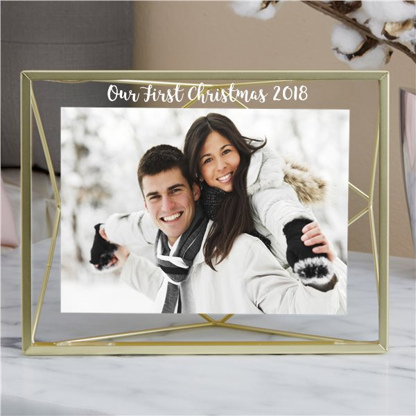 First Christmas Couple Picture Frame