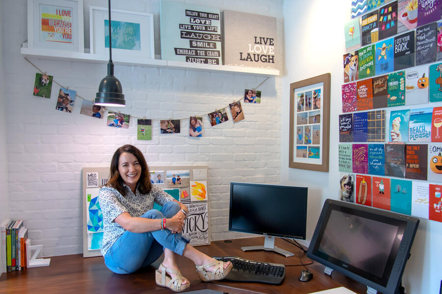 Vicky Barone at her home studio