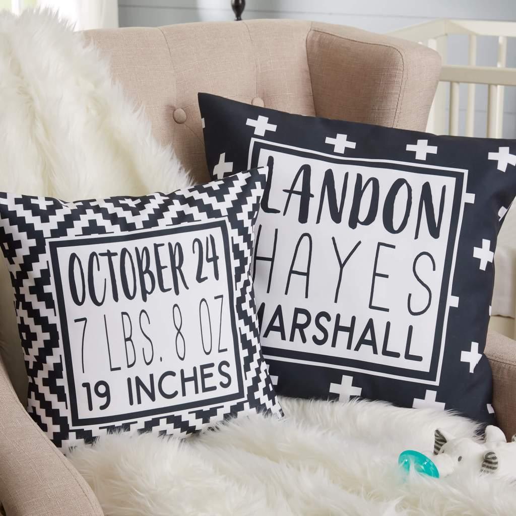 Black & White Nursery Decor - Pillows
