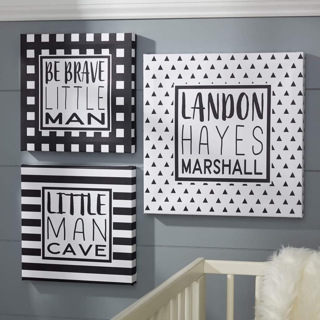 Black & White Nursery Decor - Wall Art