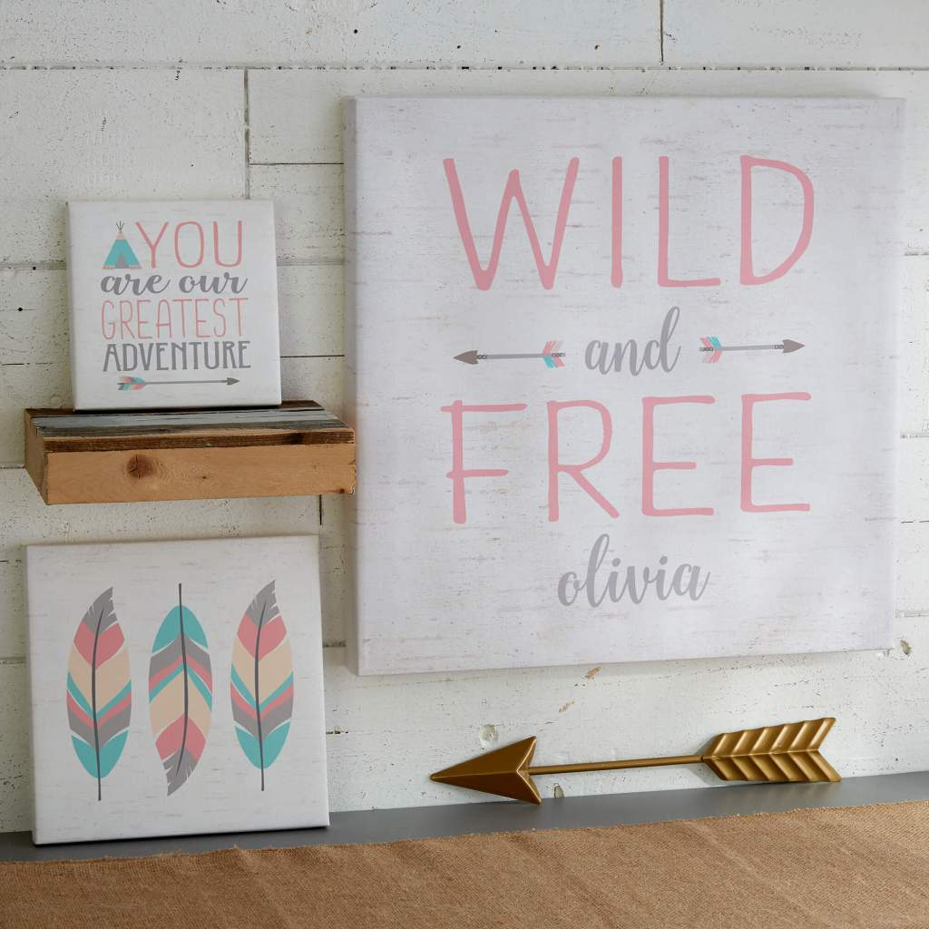 Boho Nursery Decor - Canvas Wall Art