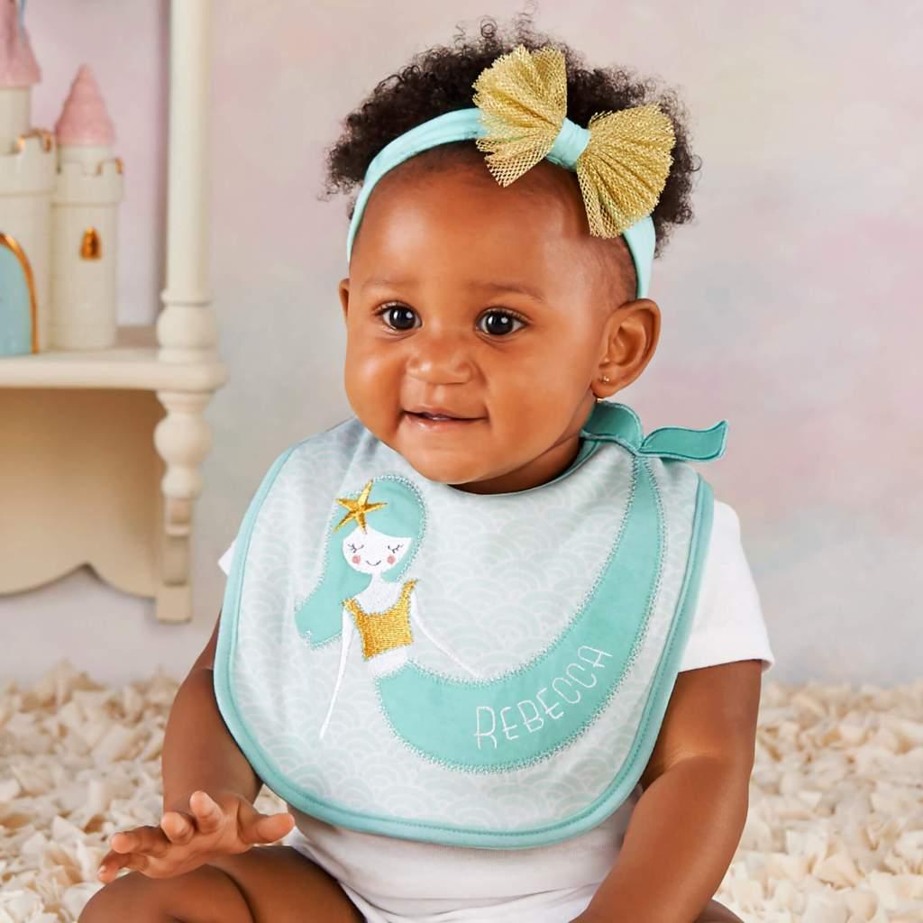Mermaid Nursery Decor - Baby Bib Set
