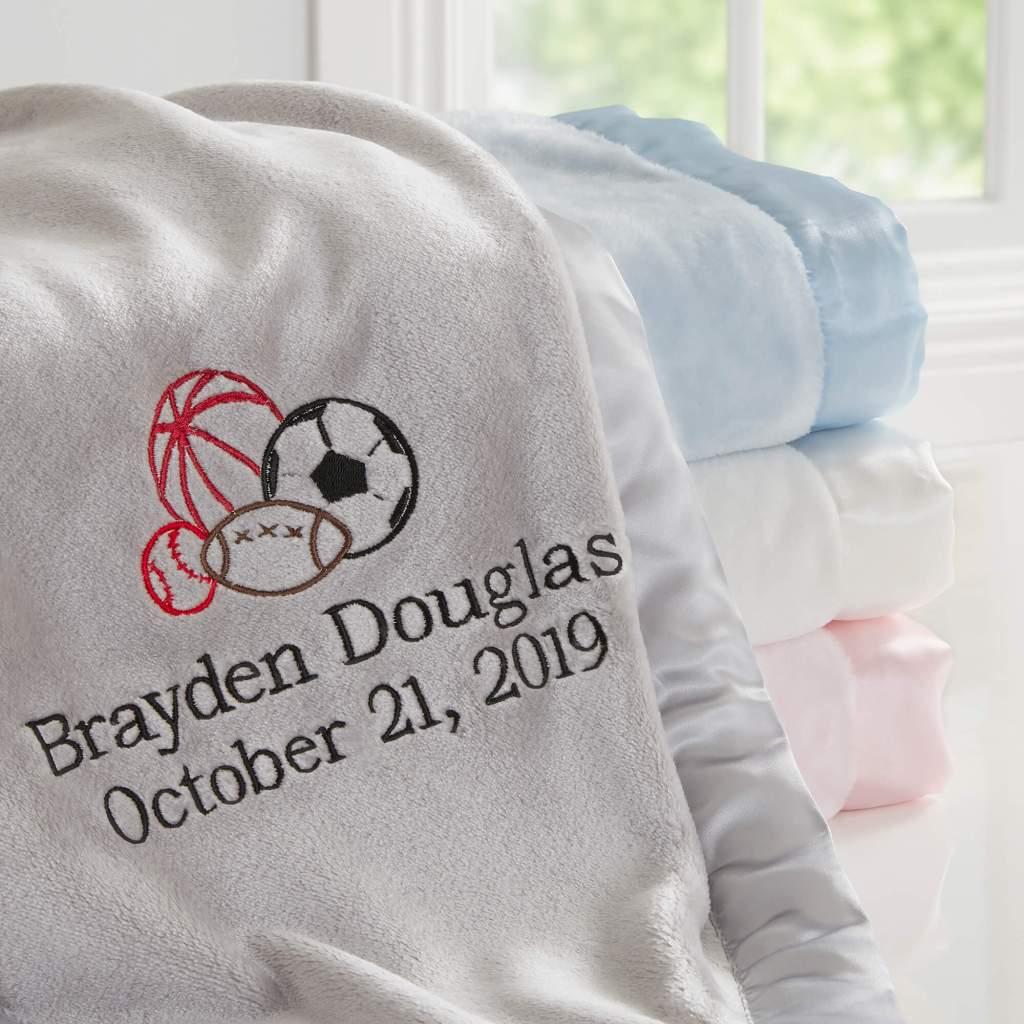Sports Nursery Decor - Baby Blanket