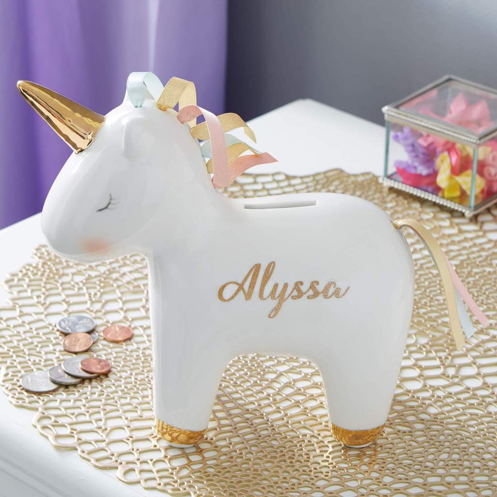 Unicorn Nursery Decor - Piggy Bank