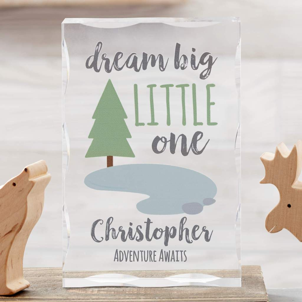 Woodland Nursery Decor - Baby Keepsake
