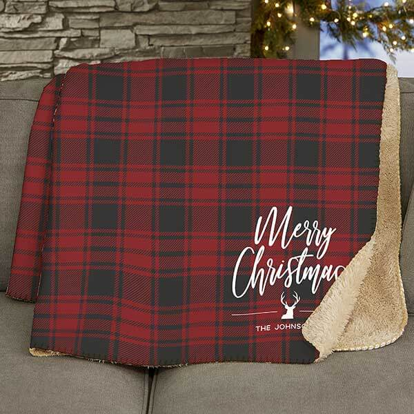 Christmas Plaid Blankets