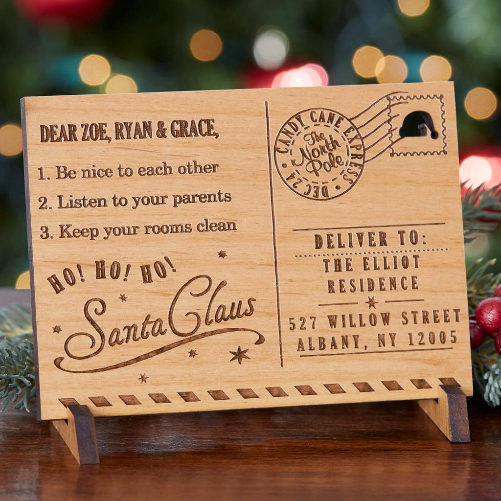 Custom Engraved Santa Letter Keepsake